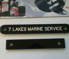 Seven Lakes Marine Service Transom Plate Gloss Black 2PC Set