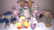 Easter Bunnies And Bears Lot Of 7 Great Gifts!