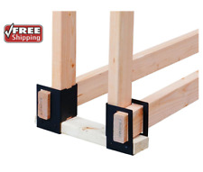 4-Pc. Firewood Rack Log Brackets 2 x 4 Lumber 1/2 Cord Storage System Fire Wood