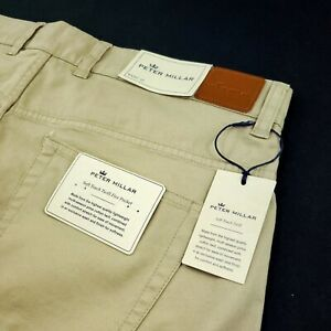 Peter Millar Soft Touch Lightweight Stretch Twill 5 Pocket Pants Sz 36 38 40 44