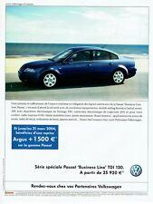 Publicité Advertising 049  2004   Volkswagen  Passat Buisness line Tdi 130 vw
