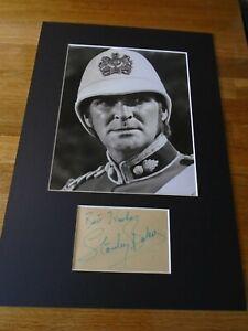 Stanley Baker Zulu Genuine Signed Authentic  Autograph - UACC / AFTAL.