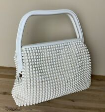 Vintage Purse Beaded Lucite Plastic Retro Pin-Up GRANDEE BEAD Handbag