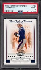 2006 Tom Brady Panini Threads Football Card #63 Graded PSA 9 Mint (MT)