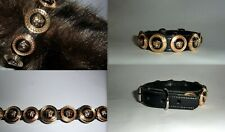 VERSACE MEDUSA HEAD STUDDED PUPPY/SMALL DOG/CAT COLLAR-FITS 10 -13 INCH NECK