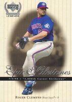 1999 Upper Deck Century Legends Epic Milestones Baseball Cards Pick From List