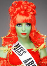 Womens Beetlejuice Style Miss Argentina Red Wig