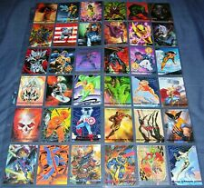 1993 Marvel Masterpieces Base Set Skybox Marvel Comic Trading Cards