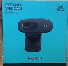 Logitech C270 HD Webcam - Black 720p 30fps *BRAND NEW UNOPENED*