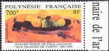 French Polynesia 1991 Paul Gauguin/Oranges/Artists/Art/Fruit/People 1v (n37454)