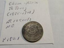 D67 China Kirin 1898-1906 10 Cents Y-180.1