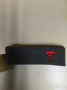 Officially Licensed Texas Tech Red Raiders Grey Fleece Headband NWT