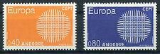 Andorra 222 - 223 ** postfrisch Cept 1970 Michel 20,00 € MNH