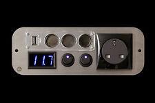 Ford Transit Campervan Black 240v,12v Switches,3 Way USB Voltmeter
