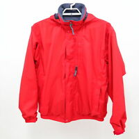 Patagonia Jacket Mens Hooded Zipper L Large Red Lightweight