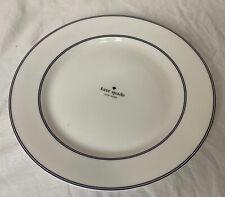 """New Kate Spade New York Nag's Head Navy 11"""" Dinner Plate White Lenox Design"""