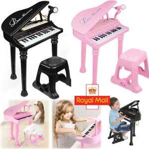 Educational Musical Electronic Children's 31 key Kids Toy Grand Piano with Stool