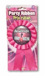 Bachelorette Outta Control Party Pin On Ribbon Pink