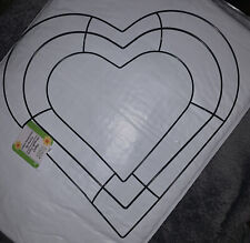 Wire Heart Wreath Form