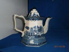 Vintage Blue & White China E & C Challinor Fenton Tea Pot