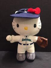 RARE Sanrio Hello Kitty Seattle Mariners Baseball Uniform Plush Stuffed MLB