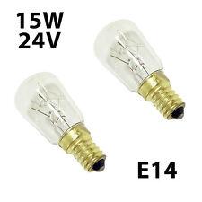 2x Tungsram light Bulbs 15W E14 24V SES for household appliances