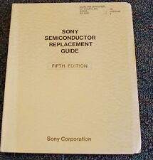 Sony Corporation Semiconductor Replacement Guide 1977 Japan Electronics Book 5th