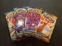 10x Pokemon Darkness Ablaze Booster  Packs - Random Artwork
