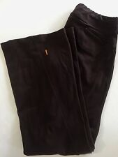 LUCY Small Yoga Pants Brown Bootcut Stretch Long Pants Fitness Workout Womens