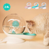 2.8L Pet Cat Dog Water Fountain Automatic Cats Puppy Large Drinking Bowl Feeder