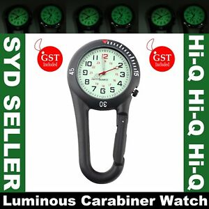 Clip-On Carabiner FOB Watch Digital Luminous for Doctors Nurses Paramedics Sport