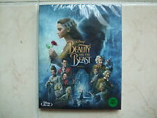 Beauty And The Beast (2017, Blu-ray) w/ Slipcover + Leaflet + Bookmark