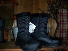WOMENS WINTER BOOTS -5 DEGREE RATED SIZE 10 COLOR BLACK ZIPPER SIDE WOMENS SHOES