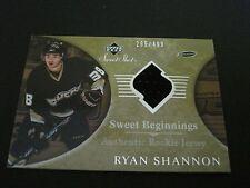 NHL 2006-07 SWEET SHOT ROOKIE JERSEY CARD - RYAN SHANNON DUCKS