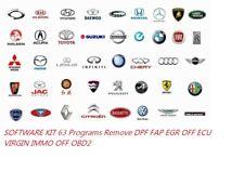 SOFTWARE KIT 63 Programs Remove DPF FAP EGR OFF ECU VIRGIN IMMO OFF OBD2
