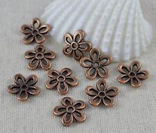 20  Perlenkappen Blümchen, kupfer 11,5 mm Perlen Kappen Blumen Perle