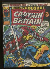 CAPTAIN BRITAIN #5 (7.0) SIGNED BY CHRIS CLAREMONT AND HERB TRIMPE!