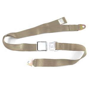 2pt Tan Lap Seat Belt Airplane Buckle - Each classic brass sprint car bert