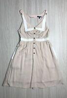 Ladakh Pink & White Sleeveless Shift Dress Size 6 with Pockets