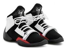 "$895 Mens Giuseppe Zanotti ""Jump"" High-Top Sneakers black/White/red 43 US 10"
