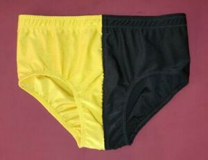 Pro Wrestling TRUNKS 2-Tone Half Yellow & Black NEW - Other Colors Available