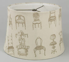 Victorian Chair on Natural Linen Shade,Softback,13x15x10.5,Washer Fitter