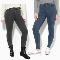 Women Ladies Stretch Jeans Denim Slim Fit Casual Black Skinny Work Pants