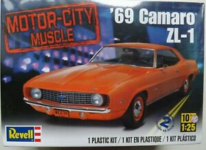 1/25 Revell 1969 Camaro ZL-1 (MOTOR CITY MUSCLE) #85-4056 Factory Sealed OOP/HTF