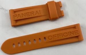 Panerai Rubber Strap Orange Color 24mm