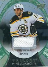 15-16 Upper Deck Trilogy Patrice Bergeron Rainbow Green Jersey /103 Bruins