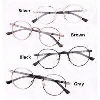Vintage Retro Metal Frame Clear Lens Glasses Designer Nerd Geek Eyeglass Eyewear