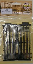 Ratio 452. Telegraph Poles x 16. (Plastic Kit) (00)