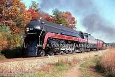 Norfolk and Western Photo Bullet Streamliner Steam  611 Art Deco N&W Train