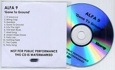 ALFA 9 Gone To Ground UK 12-trk numbered promo test CD Blow Up